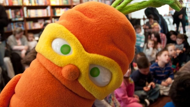 Colby Carrot and his superhero veggie pals present schoolchildren with entertaining nutrition tips.