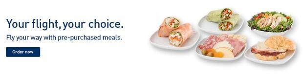 WestJet pre-order meals london