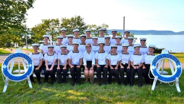 Faith-Ann Warford, second row, second from right, pictured here in happier days with a different group of cadets.