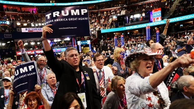 Delegates at the Republican National Convention listen to keynote speeches on the second day of the conservative political event. About 40% of Republicans now support same-sex marriage, according to the American Unity Fund.