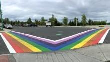 Yellowknife rainbow pride crosswalk