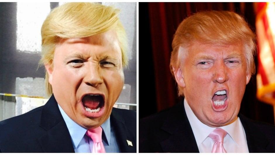 John Di Domenico (L) and the real Donald Trump (R) in mid growl.