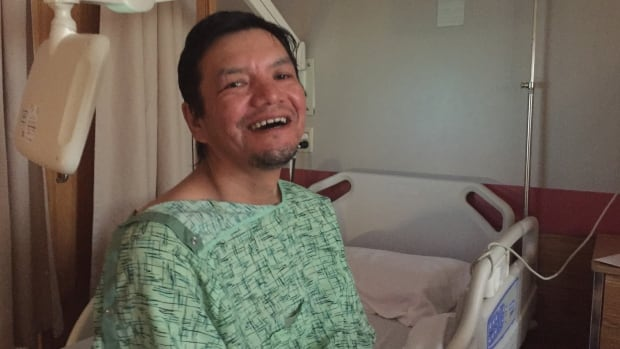 Tony Williah is recovering at Stanton Territorial Hospital after he fell out of his boat on Lac La Martre near Whati, N.W.T. He was missing for two days before he was found at about 7 p.m. Tuesday night.