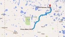 Pelican Narrows map