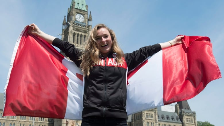 Rosie MacLennan Seen Here In Front Of Parliament Hill Ottawa Will Be Canadas Olympic Flag Bearer For Rio Adrian Wyld The Canadian Press