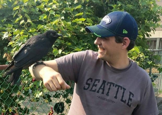 Canuck the Crow and Steve Bergman