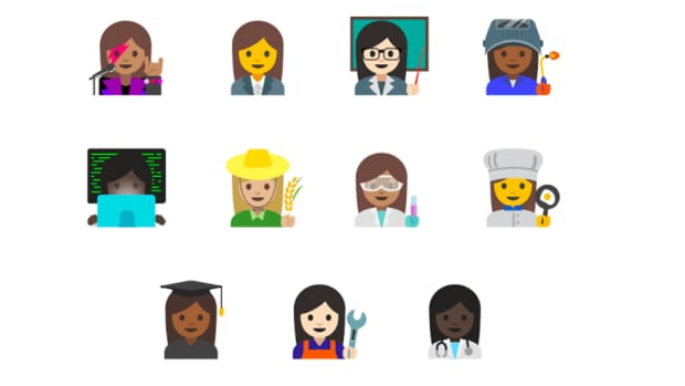 A rock star and farmer are two of 11 new emoji depicting professional women that Google will introduce to promote gender equality.