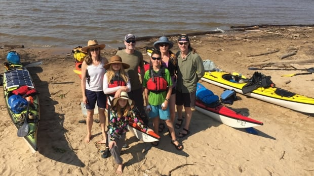On the left, Nicky Hastings, Kevin Vallely and their two daughters, Arianna and Caitlin. Vancouver physicians Craig Fava and Carole-Anne Yelle, along with their son Nathaniel, started out on the adventure but called it quits in Fort Simpson.