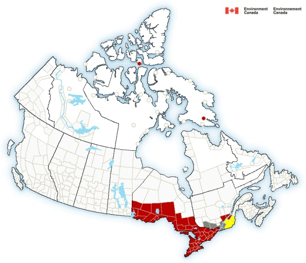 Environment Canada map