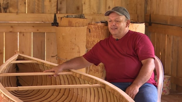 Todd Labrador, a Mi'kmaq man from Nova Scotia's Kejimkujik region, is honouring the heritage and culture of his people by practising a traditional art — birchbark canoe building.