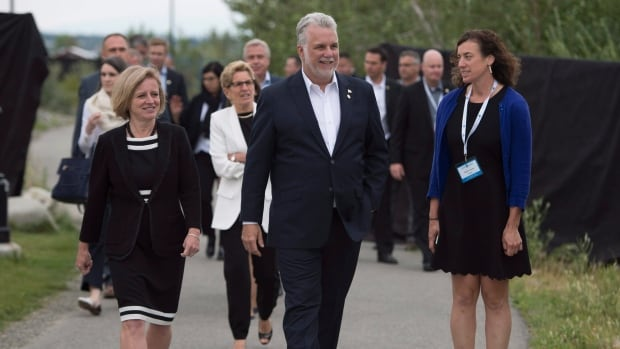 Alberta Premier Rachel Notley and Quebec Premier Philippe Couillard were key players when the premiers reached an agreement in principle on an interprovincial trade deal in Whitehorse — Notley for making a big ask, and Couillard for saying yes for the sake of the deal.