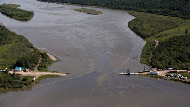 Husky Energy says it has spent $107 million cleaning up an oil spill on the North Saskatchewan River near Maidstone, Sask. in July, 2016.