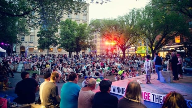 There will be free performances in Old Market Square throughout the Winnipeg Fringe Theatre Festival.