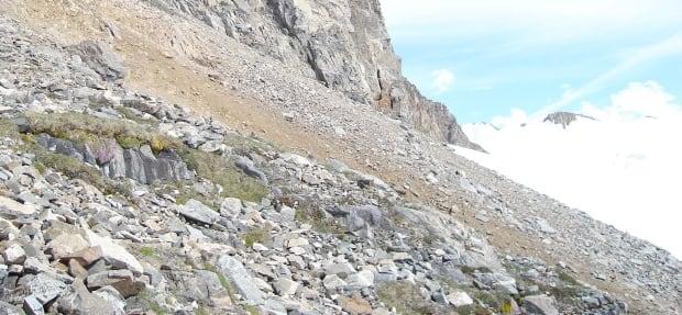Nunatak in St Elias Mountains