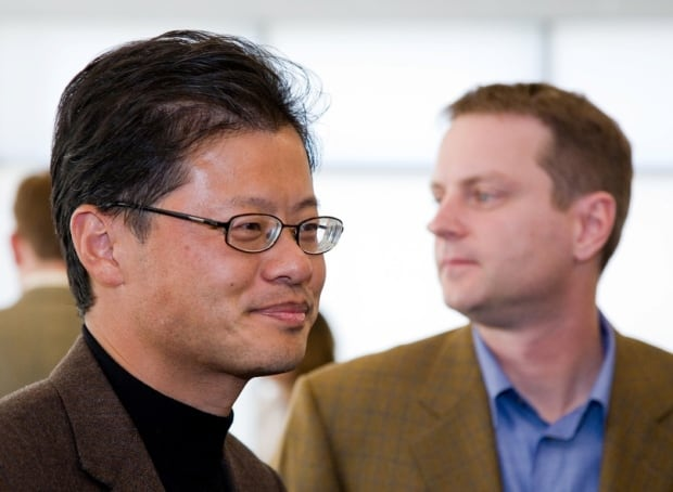 Yahoo founders Jerry Yang and David Filo