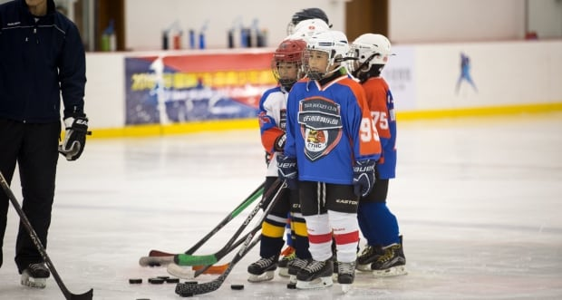 China hockey children dreams on ice