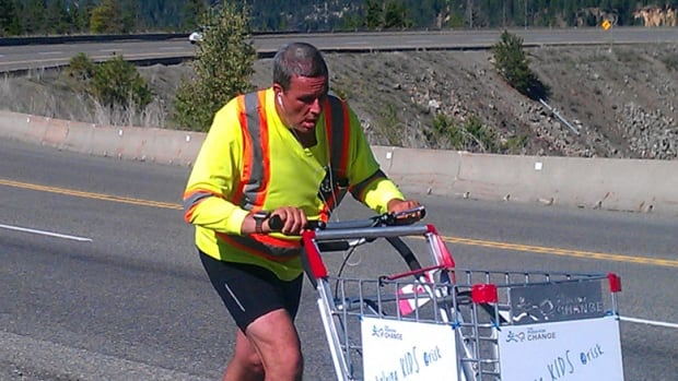Joe Roberts walks 24 kilometres a day as part of his pan-Canadian Push For Change campaign, where he tries to raise awareness for youth homeless in Canada.