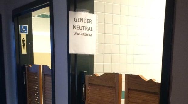 New sign bathroom