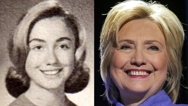 Hillary Clinton, shown left in the 1965 Maine South High School yearbook from Park Ridge, Ill., will speak to the Democratic National Convention in Philadelphia on July 28, accepting the party's nomination as its candidate for the 2016 U.S. presidential election.