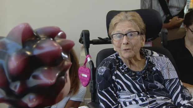 Florence Sherman, 86, a resident at One Kenton Place