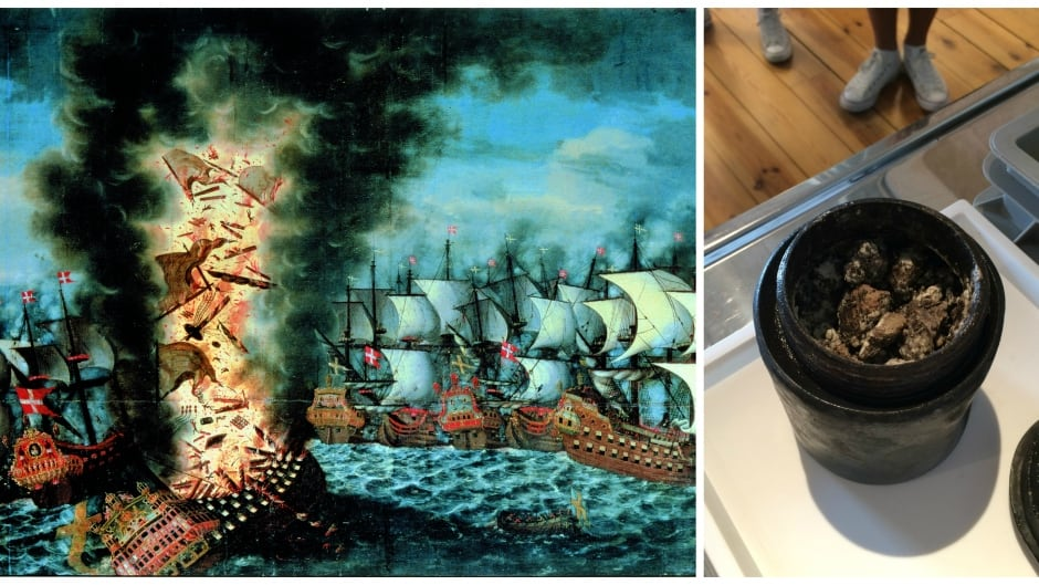 A dairy product, believed to be cheese, has been discovered at the wreck site of The Kronan. The Swedish warship sank before a battle with the Danish/Dutch allied fleet in 1676.