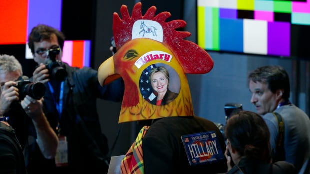 Questionable fashion is adding entertainment value to the Democratic National Convention.