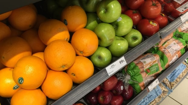 At this Shoppers Drug Mart in downtown Toronto, you can buy fresh oranges, apples, tomatoes and carrots along with your toiletries.