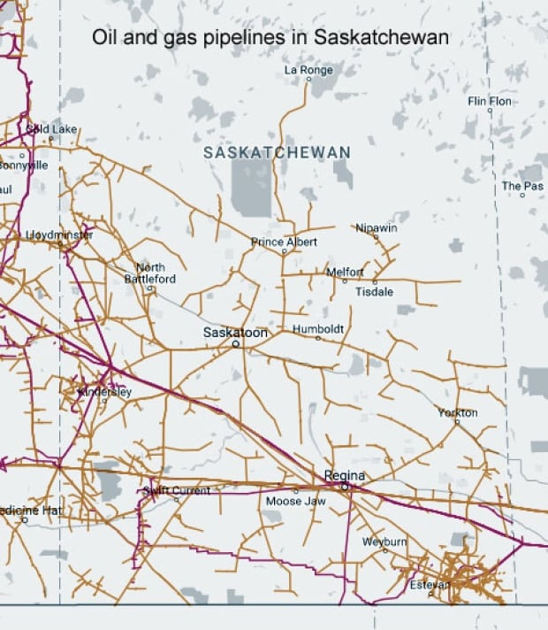 Oil and Gas pipelines in Saskatchewan