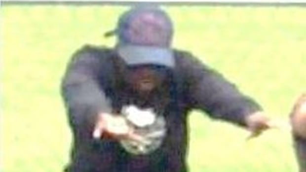 Police released this photo of a suspect wanted in a shooting during a fitness class at Christie Pits Park Saturday morning.