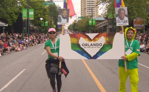 Vancouver Pride Parade Orlando We are with you