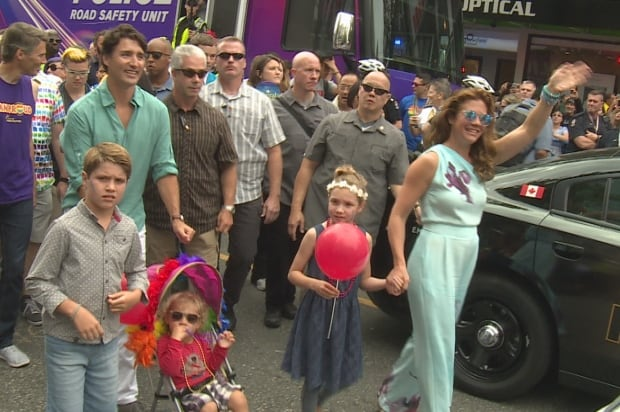 Vancouver Pride Parade Justin Trudeau, family