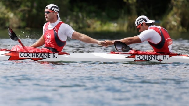Canada's Ryan Cochrane, left, and Hugues Fournel were named to Canada's Olympic team on Sunday for the K2 200-metre event.