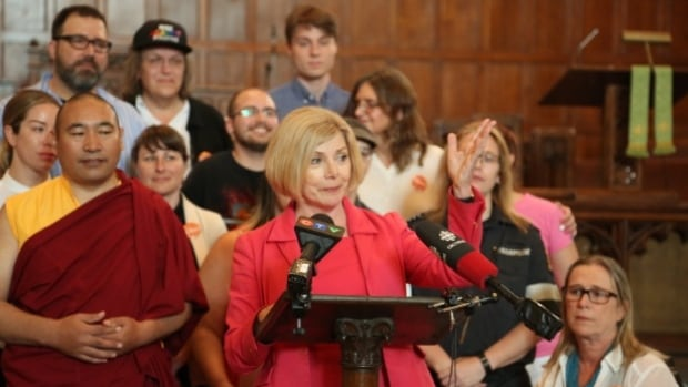 """Parkdale-High Park MPP Cheri DiNovo declared herself an """"unofficial' candidate for the leadership of the federal New Democrats on June 7, shunning the party's rules for entering the top contest."""