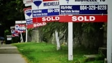 Forest of for sale signs in Vanouver BC real estate