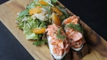Salmon tartine with caper aioli and fennel salad D is for Dinner