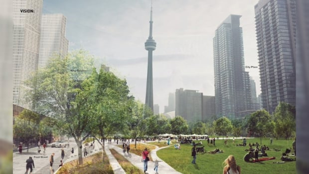 The city is proposing to build a massive deck on top of Toronto's rail corridor, giving downtown residents a huge green space to enjoy.
