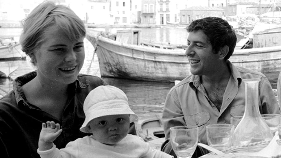 Marianne Ihlen, her son and Leonard Cohen