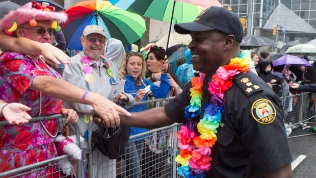 Toronto police Chief Mark Saunders has participated in past Pride parades, but it looks like his officers will not be taking part this year.