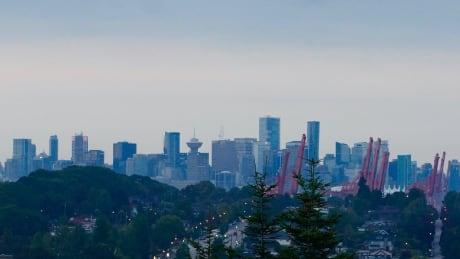 STOCK VANCOUVER CITYSCAPE CITY WIDE LANDSCAPE