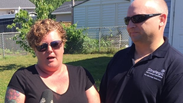 Heather and Andre Thibodeau say it's been two years since they gave Mike Upton a $1,500 deposit for a shed.
