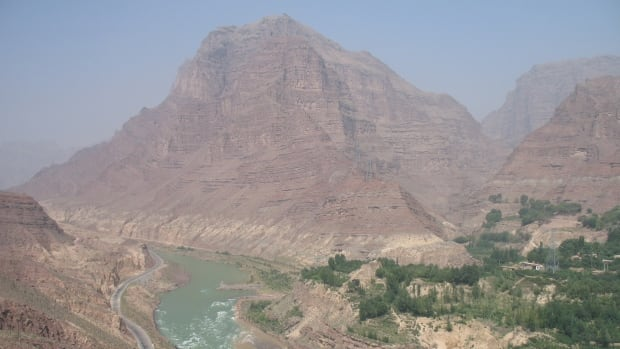 The researchers deduced that 4000 years ago, following an earthquake and landslide, about 15 trillion litres of water built up behind a dam of rock and sediment near Jishi Gorge (above). When the dam broke, the floodwaters submerged the North China Plain that is considered the cradle of Chinese civilization.