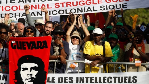 A file photo from the 2011 World Social Forum in Dakar, Senegal. The anti-capitalist gathering serves as an annual counterweight to the World Economic Forum.