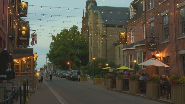 Canadians are relatively comfortable with the idea of walking around Charlottetown at night.