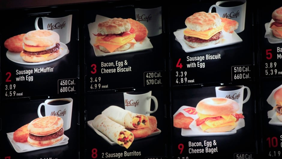 In Ontario, fast food chains now have to list caloric content beside their menu items.