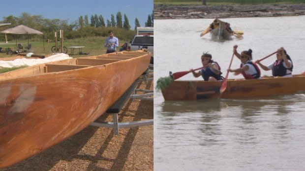 The Musqueam Indian Band along with Indigenous professors from UBC took this canoe, carved over three-months from a 350-year-old cedar, for a first paddle on Saturday, August 6, 2016.