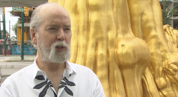 Douglas Coupland with Golden Tree