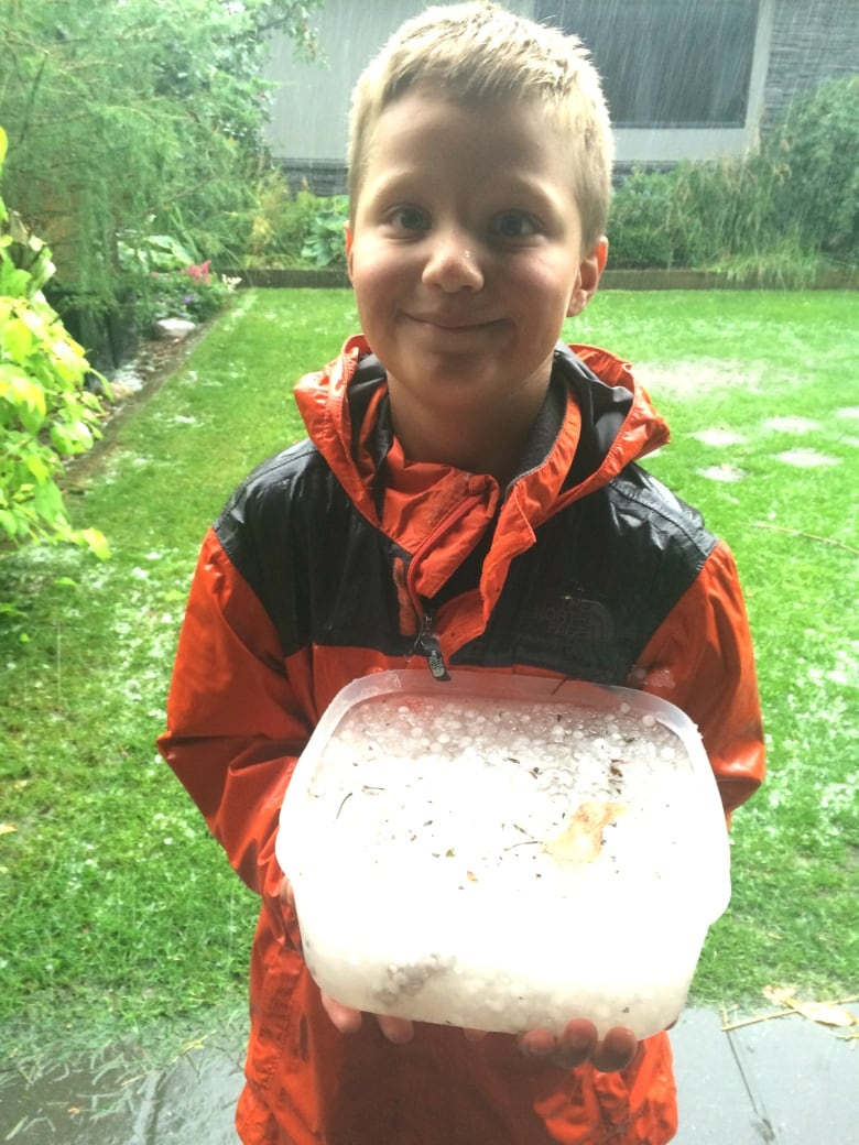 Calgary area hammered with rain, hail but no tornado developed