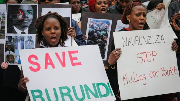 In April, Burundi nationals from across the U.S. and Canada, along with supporters, demonstrated outside U.N. headquarters, calling for an end to political atrocities and human rights violations unfolding in Burundi under the government of President Pierre Nkurunziza.