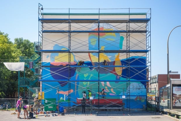 The Cape Dorset mural in Montreal