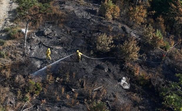 A crew at the Maitland Bridge, Annapolis Co., fire
